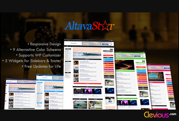 Download AltavaStar WordPress Theme for FREE - Clevious